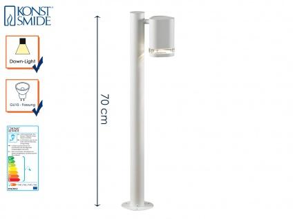 Aluminium Wegeleuchte Standleuchte MODENA weiss, GU10, Höhe 70cm, IP44