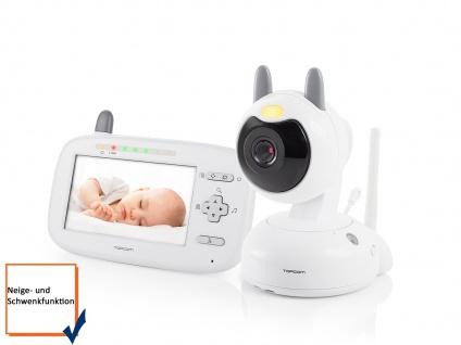 Digitales Video-Babyphone mit Farbdisplay 11 cm mit beweglicher Kamera