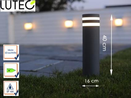 LED Wegeleuchte / Sockelleuchte Alugus anthrazit H. 40cm IP44 Außenbeleuchtung