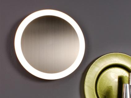 Angesagte LED Innenlampe für Wand und Decke mit Silber Spiegel Design rund 40cm