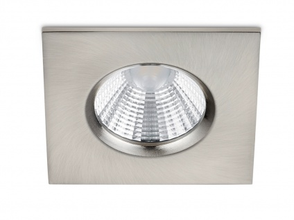 LED Einbaustrahler Spot Decke eckig dimmbar Nickel matt 5, 5W Deckenbeleuchtung
