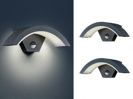 LED Außenwandlampe mit Bewegungsmelder Anthrazit 2 Außenleuchten Hausbeleuchtung