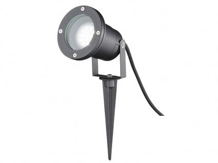 Schwarze Außenleuchte mit Erdspieß oder Außenwandleuchte GU10, Garten Wegelampe - Vorschau 2