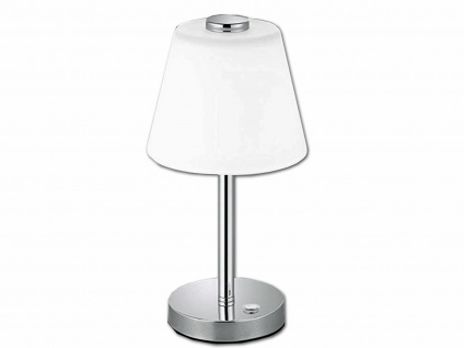 Elegante dimmbare LED Nachttischlampe TOUCH Nickel matt & Lampenschirm in weiss - Vorschau 2