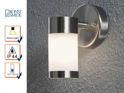Terrassen Wandleuchte MODENA Edelstahl opales Glas Außenwandlampen Aussenlicht