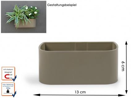 Kunststofftopf mit Magnet B. 12 cm, Taube, Wandaufbewahrung Wanddeko, KalaMitica