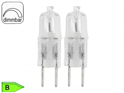 2er SET Halogen Leuchtmittel in Stiftform 25 Watt warmweiß GY6.35 dimmbar