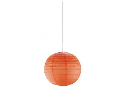 Pendelleuchte Japan-Kugel aus Papier Ø40cm, Lampion orange mit dimmbare E27 LED