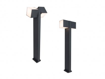 Hochwertige Outdoor Stehlampen SET 2 drehbare LED Wegleuchten ALU Anthrazit IP54 - Vorschau 2