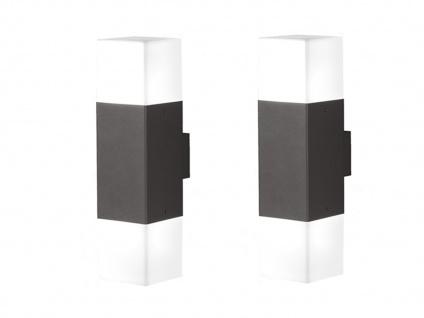 LED Außenwandlampen Anthrazit 2er SET Außenleuchte Terrassenbeleuchtung Hauswand - Vorschau 2