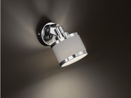 LED Wandstrahler runder Stofflampenschirm Spot schwenkbar - Wohnzimmerlampen