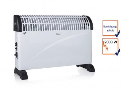 2000W Elektroheizung Konvektor mit Thermostat & Turbofunktion, Campingheizung