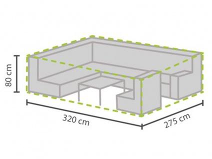 Schutzhülle Abdeckung für Loungemöbel, 320x275cm, Abdeckplane Lounge Garten