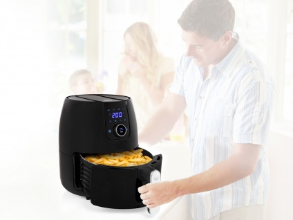 XXL Heißluftfritteuse Crispy Fryer Umluft Friteuse Frittieren ohne Öl 4, 5 Liter