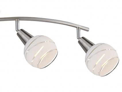 LED Deckenlampe 4flammig Lampenschirme Glas, Deckenleuchte Strahler Wohnraum - Vorschau 3