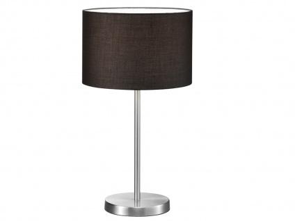 Design LED Tischlampe mit Stoffschirm rund Schwarz Ø30cm - fürs Wohnzimmerlampen - Vorschau 2