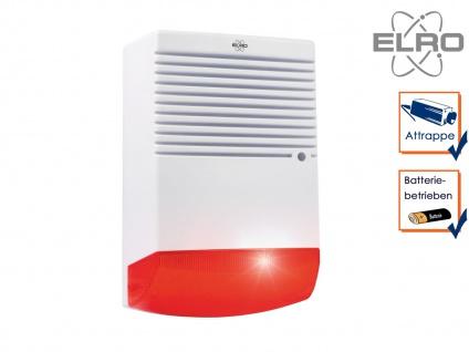 Dummy Sirene mit blinkender LED Batteriebetrieb Alarmanlagen Attrappe Fake Haus