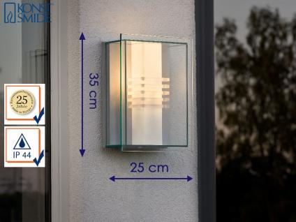 Außenwandleuchte modern, Alu silber / Polycarbonat Glas bruchsicher, Konstsmide
