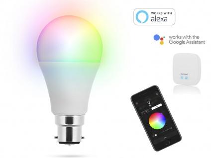 Intelligente B22 LED Glühbirne Smarthome PRO - dimmbar & RGB Farbwechsel per App - Vorschau 4