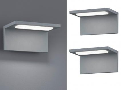 Moderne LED Außenwandleuchten in Grau - 2er Set Terrassenbeleuchtung Wandlampen - Vorschau 1