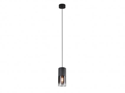Einflammige LED Rauchglas Pendelleuchte Hängelampe Industrial für über Kochinsel - Vorschau 2