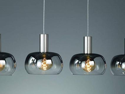 Dimmbare LED Pendelleuchte mehrflammig mit 4 Rauchglasschirmen, Esszimmerleuchte - Vorschau 3