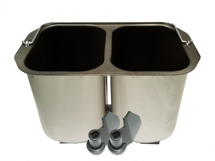 Brotbackzubehör: Doppelbrotbackform + 2 Knethaken für DOMO Brotbackautomat B3955