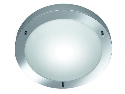 Bad-Deckenleuchte, 1xE27, Ø 31cm, IP44, Chrom, Glas opal matt weiss