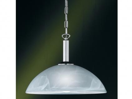 Hängeleuchte, Nickel matt, Glas alabaster weiß, Honsel-Leuchten, TWIN - Vorschau 1