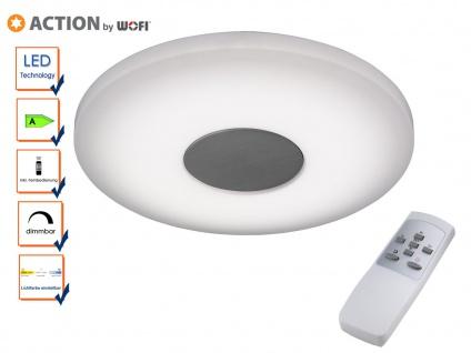 LED Deckenleuchte 34cm, FB, Nachtlicht, Lichtfarbe, Action by Wofi