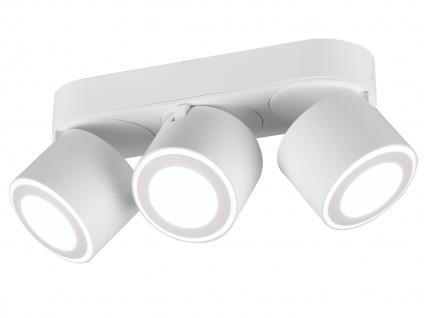 LED Deckenstrahler 3-flammig Weiß schwenkbare Deckenlampen für Flur und Diele - Vorschau 2