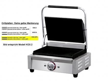 Profi Edelstahl Kontaktgrill 2800W Platten glatt, Gastro Elektro Panini Grill - Vorschau 3