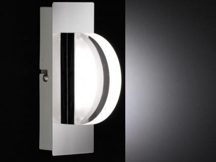 LED-Wandleuchte Chrom / Acrylglas, Schalter, Wofi-Leuchten - Vorschau 3