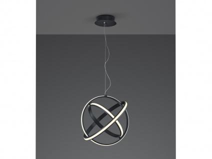 LED Ringleuchte Galerielampe für große Räume, Kugellampe hängend über Couchtisch