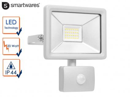 20W LED Strahler Fluter mit Bewegungmelder Scheinwerfer Wandstrahler außen
