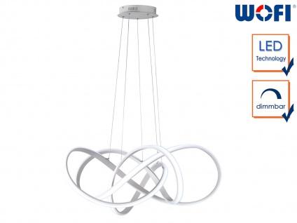 Design LED Pendelleuchte Aluminium L. 90, 5cm Hängeleuchte Esstischlampe dimmbar