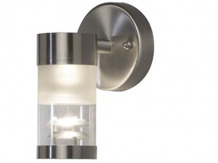 Konstsmide Außenwandleuchte BOLZANO dimmbar, Edelstahl Fassadenbeleuchtung IP44 - Vorschau 2