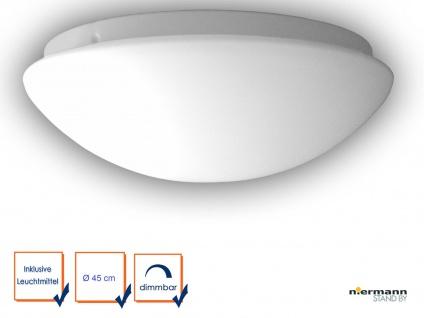 LED Glasleuchte OPAL matt Ø 45cm LED Deckenlampe dimmbar rund Glas Küchenlicht