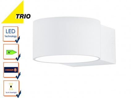Trio Wandleuchte LACAPO weiß Uplight Downlight Osram LED, Wandlampe Wohnzimmer