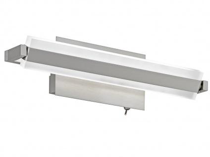 LED Wandleuchte Wandlampe TURN Nickel matt, Acryl weiß Länge 35 cm