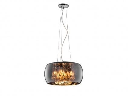 Dimmbare LED Pendelleuchte mit Glasschirm, Flammenlicht & Dekobehang mehrflammig