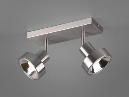RETRO Deckenstrahler 2-flammig Silber Beleuchtung Flur, Diele und Treppenhaus
