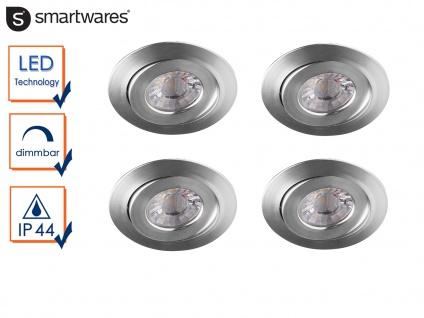 4 LED Einbaustrahler 4, 5W Spot schwenkbar, dimmbar, Deckenstrahler Einbauleuchte