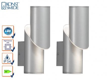 2er-Set Design Wandleuchten IMOLA, 9 Watt HP-LED, IP54, Höhe 18 cm