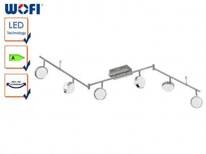 6-flammiger LED Deckenbalken, Sterndesign, MONDE, Deckenlampen Deckenleuchten