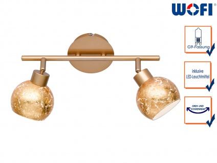 Design LED Deckenleuchte Spots drehbar Goldfarben G9 Wohnraumleuchte Dielenlampe