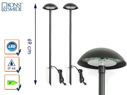 2er-Set LED-Stableuchten Erdspießleuchten Gartenstrahler Gartenspot AMALFI