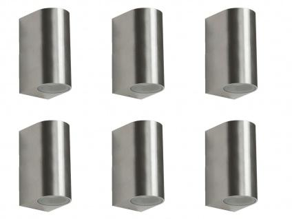 6er Set LED Wandleuchte Metall, up/downlight, 160Lm, warm, IP44