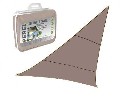 Sonnensegel Regenschutz PEREL, Braun Grau, 500 x 500 x 500 cm, Wasserabweisend