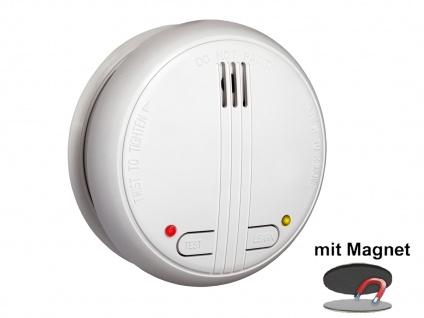 4er SET Funkrauchmelder 40m Reichweite bis 20 Melder koppelbar + Magnethalter - Vorschau 3